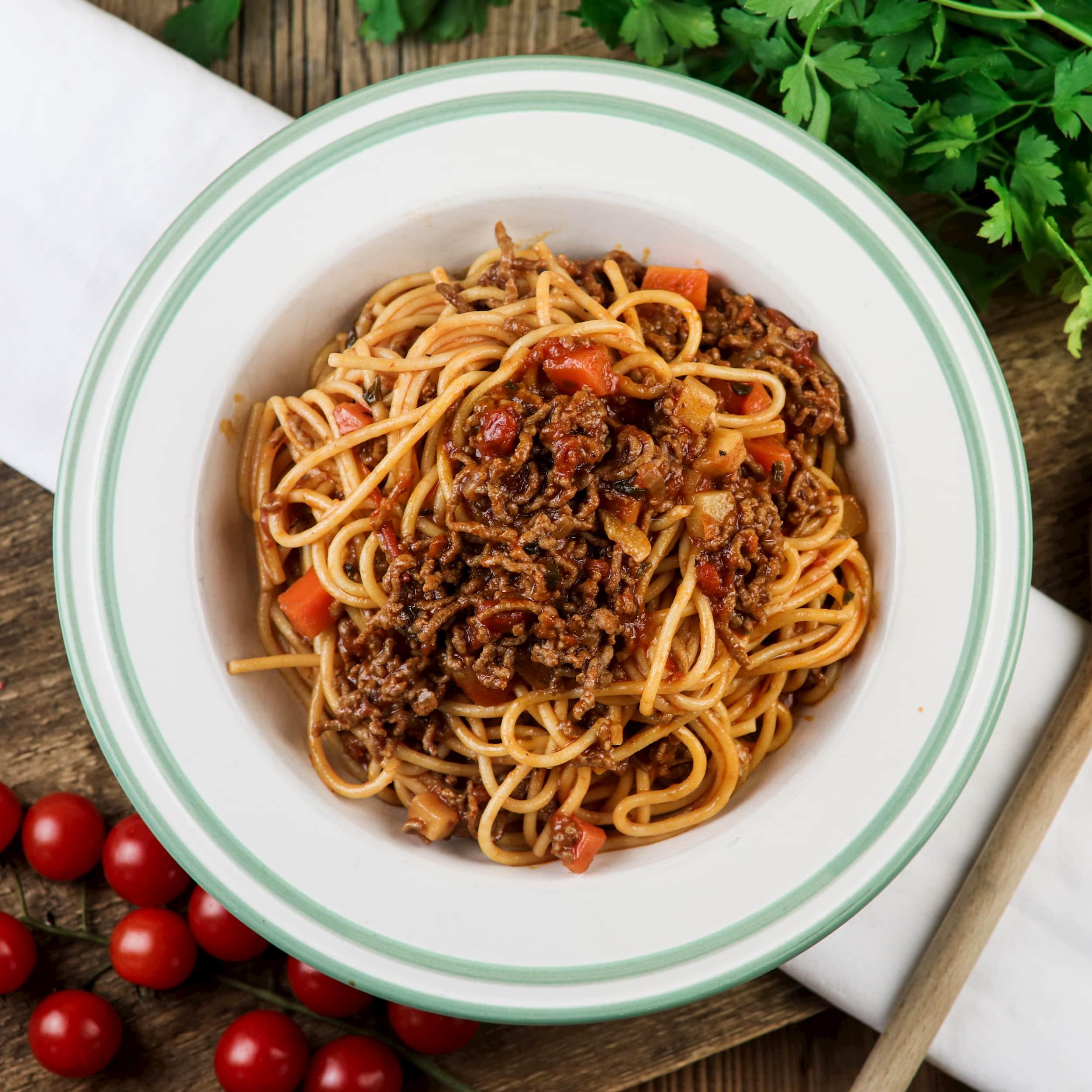 Himmlische Spaghetti Bolognese
